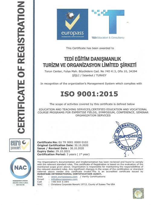 TEDi Egitim ISO 9001